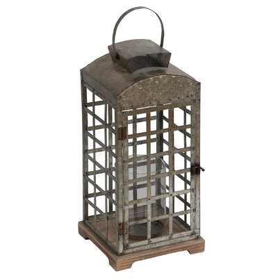 Wood Lantern Size: Large LRFY1476 32414382