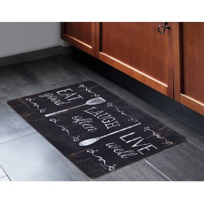 Annabelle Eat Laugh Live Kitchen Mat