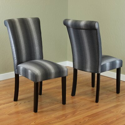 Annalise Side Chair Upholstery: Black