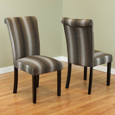 Annalise Side Chair Upholstery: Brown