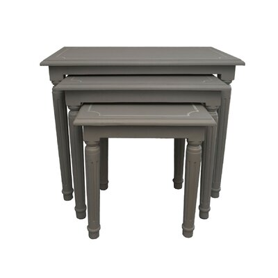 Andee 3 Piece Nesting Tables Finish: Gray Wash