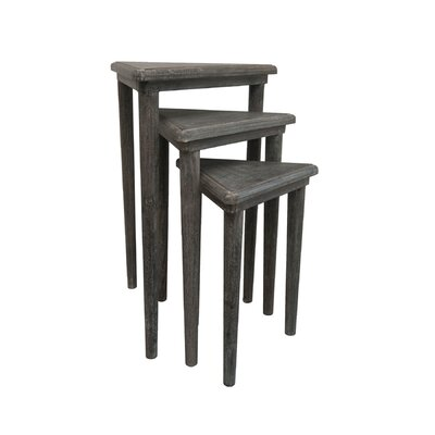 Andelain 3 Piece Nesting Tables Finish: Gray Wash