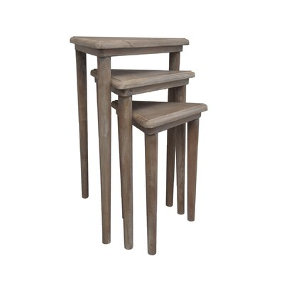 Andelain 3 Piece Nesting Tables Finish: Natural