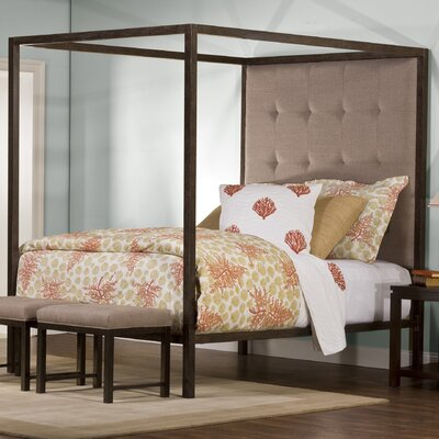Galena Upholstered Canopy Bed Size: King