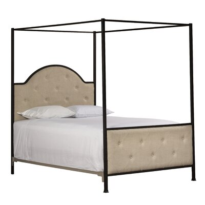 Antonia Upholstered Canopy Bed Size: Queen