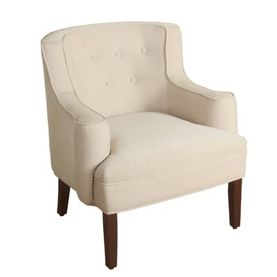 Antonin Curved Arm Chair Upholstery: Oatmeal
