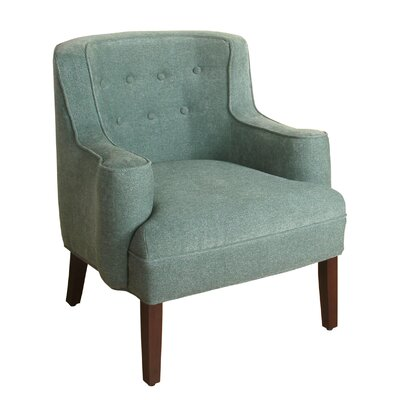 Antonin Curved Armchair Upholstery: Mineral Blue