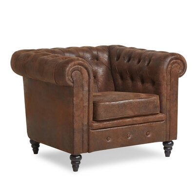 Arline Button Tufted Chesterfield Chair