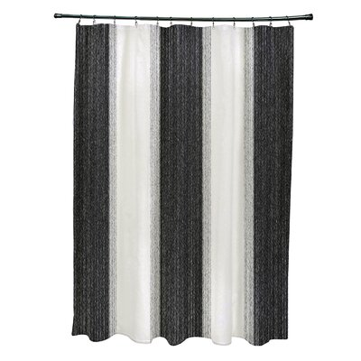 Crofts Striate Stripe Stripe Print Shower Curtain Color: Teal