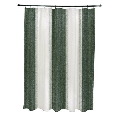 Blossom Striate Stripe Stripe Print Shower Curtain Color: Green