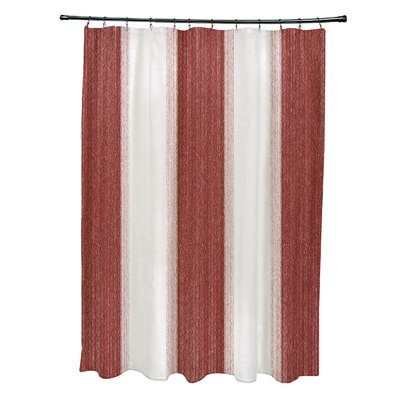 Blossom Striate Stripe Stripe Print Shower Curtain Color: Orange