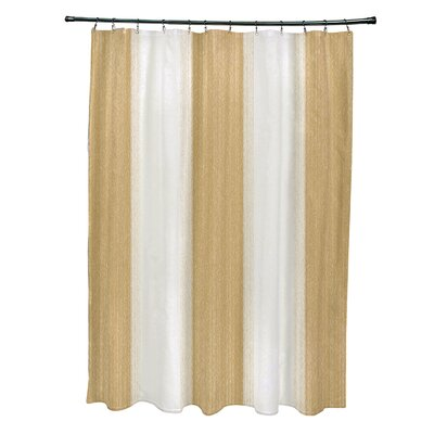 Blossom Striate Stripe Stripe Print Shower Curtain Color: Yellow