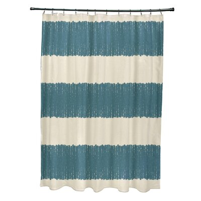 Blythe Twisted Stripe Stripe Print Shower Curtain Color: Aqua