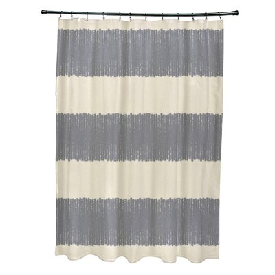 Govan Twisted Stripe Stripe Print Shower Curtain Color: Gray