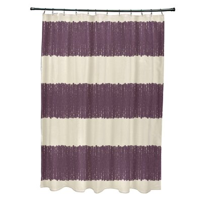 Blythe Twisted Stripe Stripe Print Shower Curtain Color: Purple