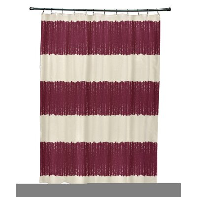 Blythe Twisted Stripe Stripe Print Shower Curtain Color: Red