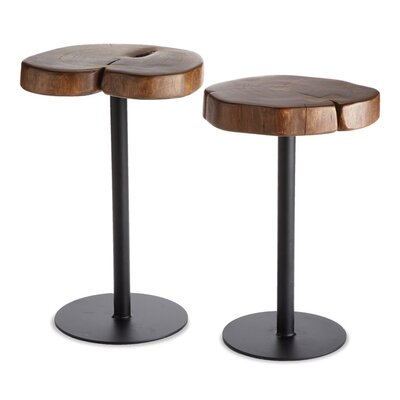 Darien 2 Piece Timber End Table Set