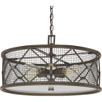 Ashley 4-Light Drum Foyer Pendant