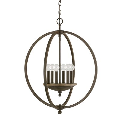 Collette 6-Light Foyer Pendant Finish: Bronze Oak