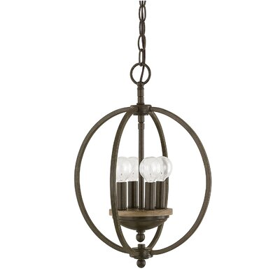 Collette 4-Light Globe Pendant Finish: Bronze Oak