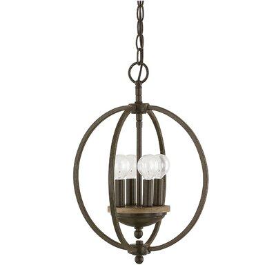 Collette 4-Light Globe Pendant Finish: Bronze Oak