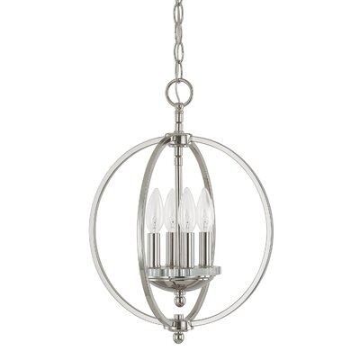 Collette 4-Light Globe Pendant Finish: Polished Nickel