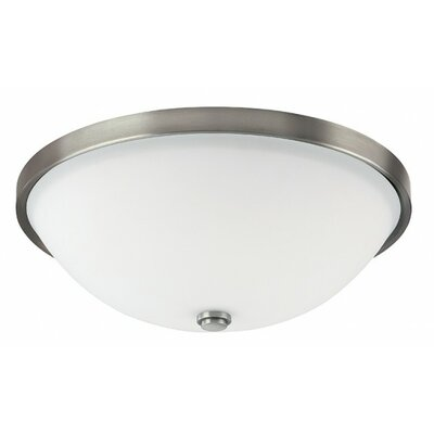 Bonneau 3-Light Flush Mount Finish: Antique Nickel
