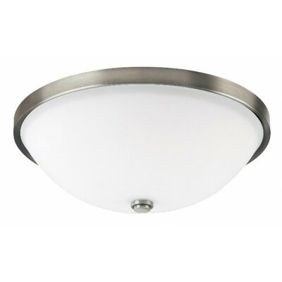 Bonneau 2-Light Flush Mount Finish: Antique Nickel