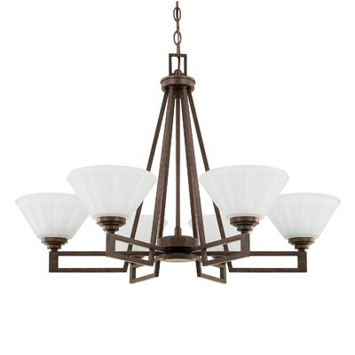 Jerrell 6-Light Shaded Chandelier