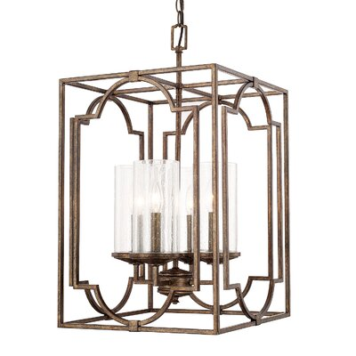 Ashburn 4-Light Foyer Pendant Size: 36 H x 22 W
