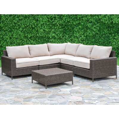 Sharon 6 Piece Deep Seating Group with Cushions