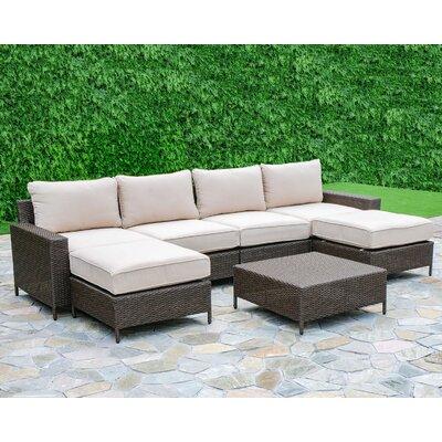 Sharon 7 Piece Deep Seating Group with Cushion