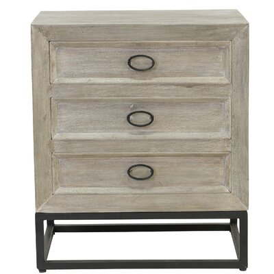 Bucklin 3 Drawer Nightstand