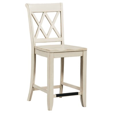 25.63 inch Bar Stool (Set of 2) Finish: Vanilla
