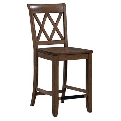 25.63 Bar Stool (Set of 2) Finish: Warm Brown