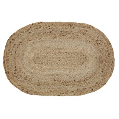 Gladys Natural Area Rug Rug Size: Oval 23 x 4