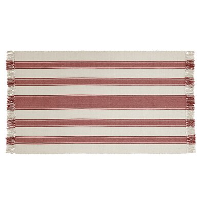 Boucher Hand-Woven Cotton Red Area Rug Rug Size: Rectangle 3 x 5