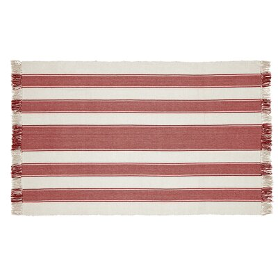 Boucher Hand-Woven Cotton Red Area Rug Rug Size: Rectangle 4 x 6