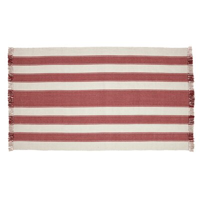 Boucher Hand-Woven Cotton Red Area Rug Rug Size: Rectangle 5 x 8