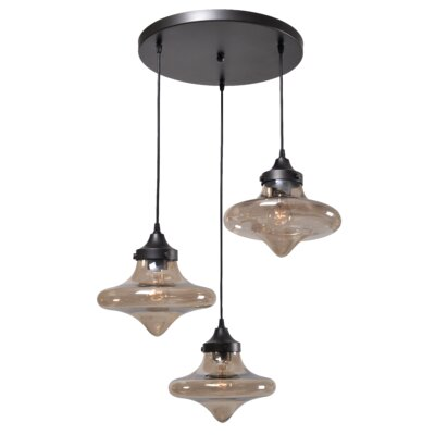 Solvi 3-Light Cascade Pendant
