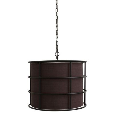 Swedesboro Steel Cage 1-Light Drum Pendant