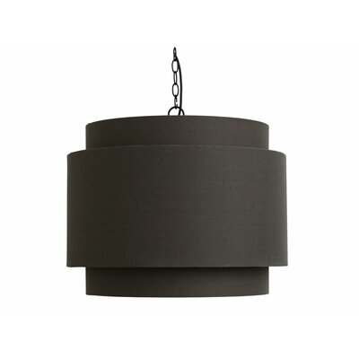 Woodbine Round Shade 1-Light Drum Pendant