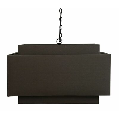 Wenonah Rectangular Shade 1-Light Pendant
