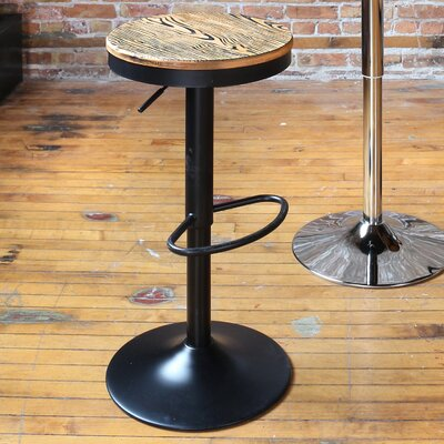 Camellia Adjustable Height Swivel Bar Stool Base Finish: Black