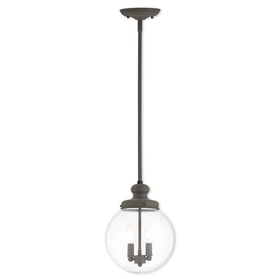 Sussex 2-Light Globe Pendant Finish: Bronze