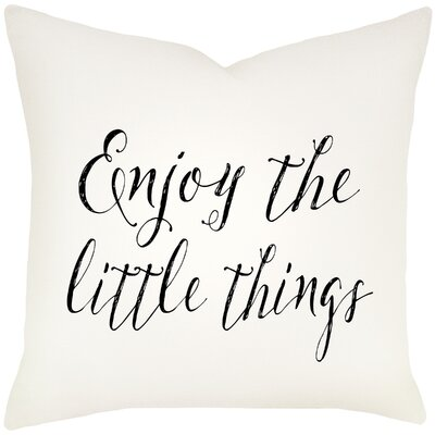 Candela Enjoy the Little Things Cotton Throw Pillow