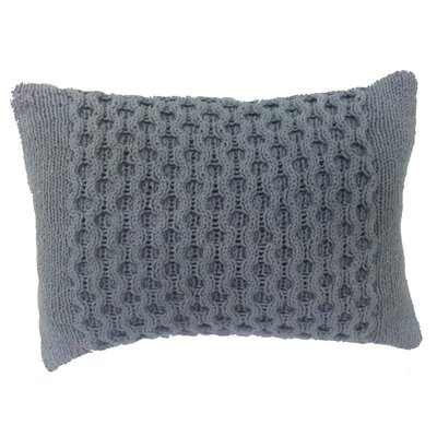 Perryville Knit Cotton Lumbar Pillow Color: Gray
