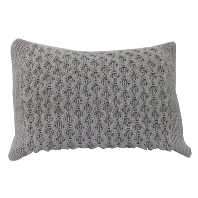 Perryville Knit Cotton Lumbar Pillow Color: Taupe