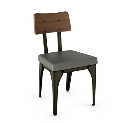 Lyerly Solid Wood Dining Chair Finish: Gun Metal Finish/Brown Wood/Gray Polyurethane
