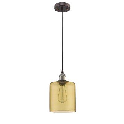 Bouvet 1-Light Mini Pendant Shade Color: Amber